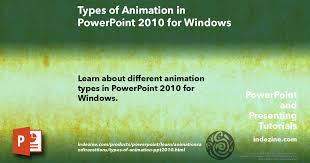 Types Of Animation In Powerpoint 2010 For Windows