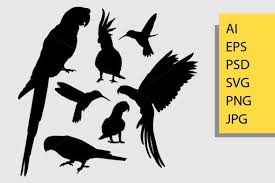 Bird Animal Silhouette Graphic By Cove703 Creative Fabrica In 2020 Animal Silhouette Silhouette Graphic Illustration