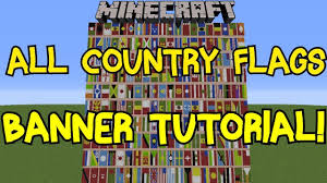 Minecraft Banner Flag Designs Minecraft 1 8 All Country Flags On Banner Tutorial 200