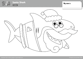 Color in this picture of santa and others with our library of online coloring pages. Santa Shark Coloring Pages Super Simple