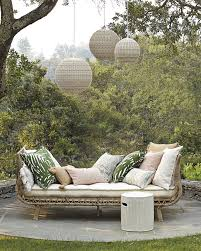 furniture natural rattan outdoor daybed for exciting backyard decor