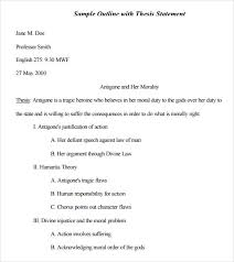 Free 9 Sample Mla Outline Templates In Pdf Word