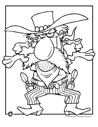 Small Picture Cowboy Coloring Pages Gunfire Cowboy Coloring Page Animal Jr