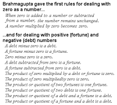 brahmagupta n mathematics the story of mathematics brahmagupta s rules for dealing zero and negative numbers
