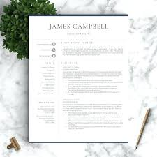 one page resume template free download professional for word pages cover  letter two three templa