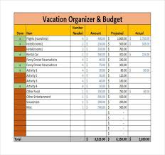 vacation budget planner 9 vacation budget template free sample example format