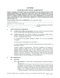 Sample Construction Loan Agreement Template Loan Agreement Template 6