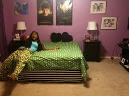 Green And Purple Room Dark Purple Bedroom Ideas Blue Bed On White Platform Completed