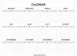Blank Year Calendar Rome Fontanacountryinn Com