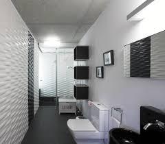 modern white bathroom ideas. Stunning Design Of The White Wall And Blak Floor Added With Black Bathroom Ideas Modern