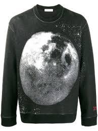 Valentino Mens Shirt Size Chart Moon Dust Print Sweatshirt