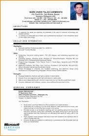 Resume Objective For Information Technology Student Valid Sample