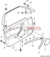 Exterior car door parts diagram esaabparts saab 9 5 9600 car