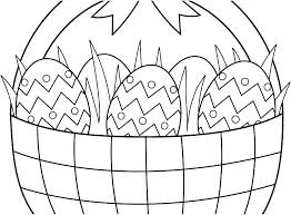 Easter Egg Basket Coloring Pages Egg Basket Colouring Pages Free