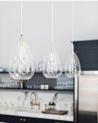 modern glass lighting. Teardrop Clear Glass Ceiling Pendant Light, Wellington Contemporary Lighting Modern H