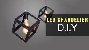 diy led chandelier living room decor easy led light diy ep 1