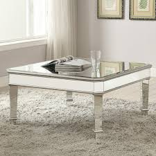 coaster furniture rectangular glass top coffee table with chrome