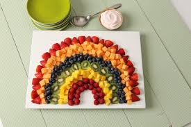 How To Decorate Salad Tray Rainbow Fruit Salad with Strawberry Dip Kraft Recipes 27