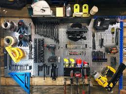 pegboard tool storage by lazy guy diy