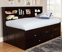 captains bed with trundle.  Captains Espresso Twin Size Bookcase Captainu0027s Day Bed With Trundle  Discovery  World Furniture DWF2922 Throughout Captains With N