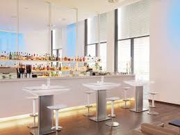 contemporary high bar table brushed stainless steel glass round