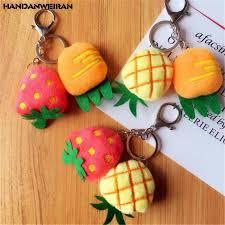 <b>1PCS</b> Mini Plush Carrot Strawberry Pineapple Toys Small Pendant ...