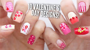 10 Valentine's Day Nail Art Designs | The Ultimate Guide #2! - YouTube