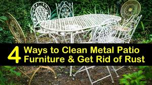 4 ways to clean metal patio furniture