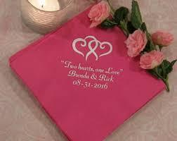 Personalized Wedding Napkins   My Wedding Reception Ideas     zoom