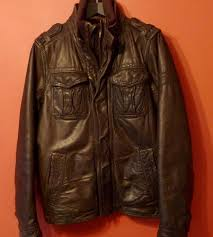 abercrombie fitch of new york mens leather jacket