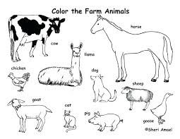 Farm Animals Printable Set Of Activity About Farm Animals For ...