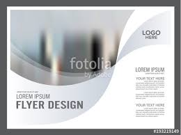 Black And White Flyer Design Template Annual Report Leaflet Cover