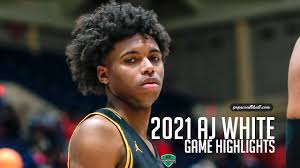 AJ White is a true FLOOR GENERAL. 2021Hooch High PG gets it done during  State Playoff run! - YouTube