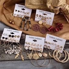 <b>Hot Sale Fashion</b> Bohemian Earrings Set For Women 2020 New ...