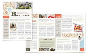 Newsletter In Word Real Estate Home For Sale Newsletter Word Publisher Template