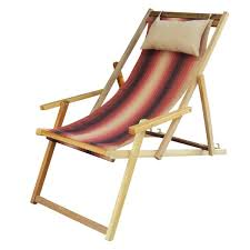 ... Buy Wooden Deck Garden Chair Furniture online in Chennai with Arm Rest  & Pillow - Forest