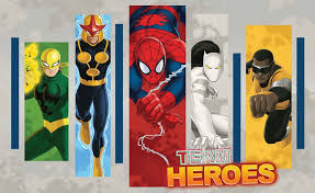 marvel comics team heroes wallpaper mural  on marvel comics mural wall graphic with marvel comics team heroes wall paper mural buy at europosters