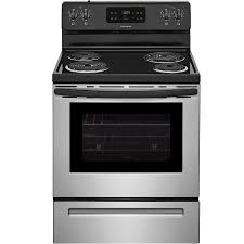 electric stove. Plain Electric Frigidaire Freestanding 53cu Ft SelfCleaning Electric Range Stainless  Steel  On Stove