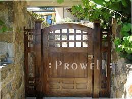custom wood garden gate 70 by prowell