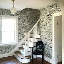 petal pusher wallpaper entry foyer of our dutch colonial joy for west chair  schoolhouse electric light