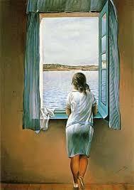 Xica mirant a la finestra. Dalí