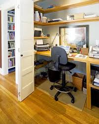 built in desk in closet. Modren Closet Builtin Closet Home Office With Large Computer Deck And Shelving Unit With Built In Desk Closet F
