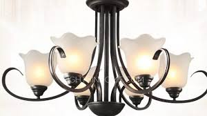 gorgeous black wrought iron chandelier at modern 6 light chandeliers e26 e27 bulb base