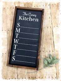 Chalkboard Menu Board Custom Chalk Menu Board 45 00 The Crafty Nest Diy