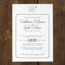 wedding invitations with hearts heart and arrow wedding invitation feel good wedding invitations