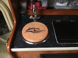 as a cutting board it fits into the sink so it won t slide out and i finished it with butcherblock oil so it is food safe s youtu be yid7wc4ftis