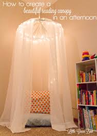 Tulle Canopy Diy How To Make A Reading Canopy In An Afternoon Little Green Bow