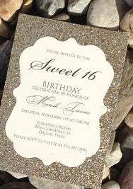 sweet 16 birthday invitation sweet 16 invitation quinceanera invitation 25 glitter birthday invitations gold silver purple blue pink