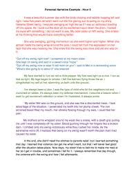 personal narrative essay examples personal narrative notes view larger