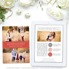 Holiday Newsletter Template Interesting Holiday Newsletter Template For Photographers Christmas Etsy